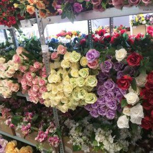 Csokros, szálas virágok,virágfejek, zöldek, levelek